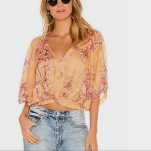 FREE PEOPLE One Dance Short Sleeves Top NWT
